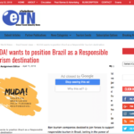 MUDA! wants to position Brazil as a Responsible Tourism destination